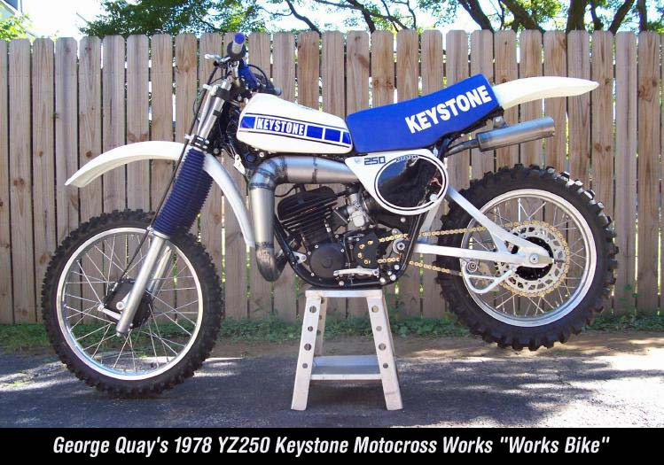 "George Quay's 1978 YZ250 Keystone Motocross Works ""Works Bike"""